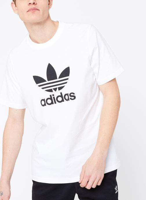 Kleding adidas originals Trefoil T-Shirt Wit detail