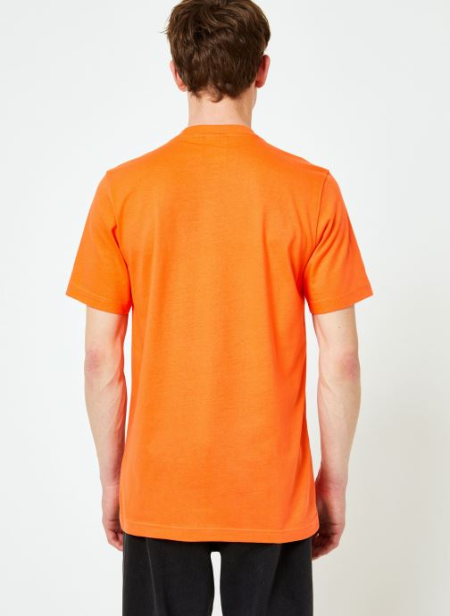 Kleding adidas originals Trefoil T-Shirt Oranje model