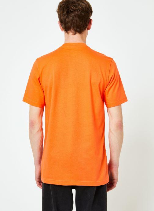 Vêtements adidas originals Trefoil T-Shirt Orange vue portées chaussures