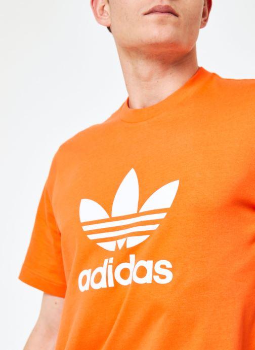 Kleding adidas originals Trefoil T-Shirt Oranje voorkant
