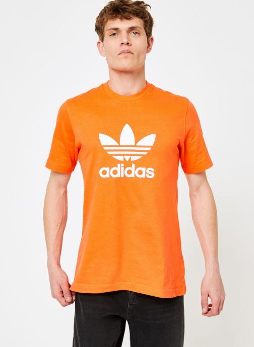 Kleding adidas originals Trefoil T-Shirt Oranje rechts