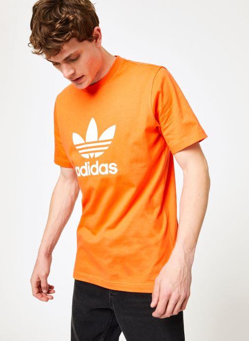 Kleding adidas originals Trefoil T-Shirt Oranje detail