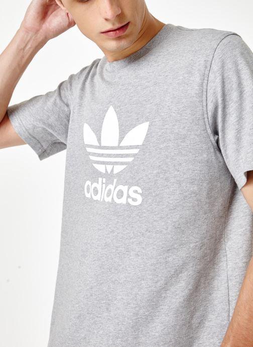 Vêtements adidas originals Trefoil T-Shirt Gris vue face