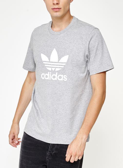 Vêtements adidas originals Trefoil T-Shirt Gris vue droite