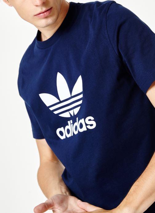 Vêtements adidas originals Trefoil T-Shirt Blanc vue face