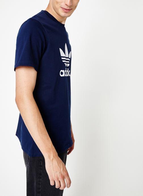 Vêtements adidas originals Trefoil T-Shirt Blanc vue droite
