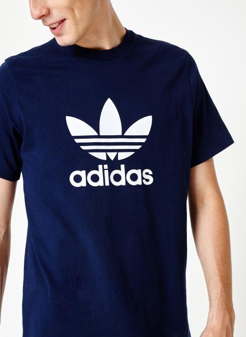 Vêtements adidas originals Trefoil T-Shirt Blanc vue détail/paire