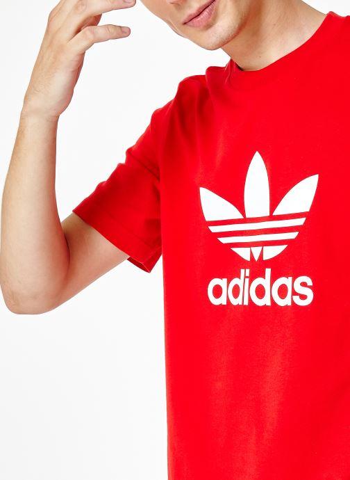 Vêtements adidas originals Trefoil T-Shirt Rouge vue face
