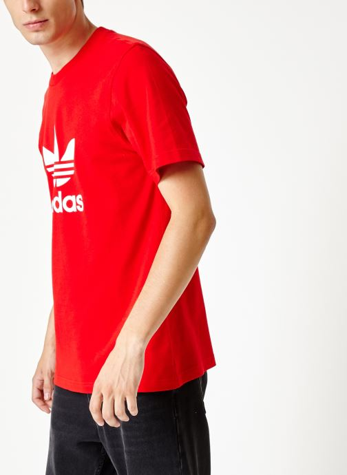 Vêtements adidas originals Trefoil T-Shirt Rouge vue droite