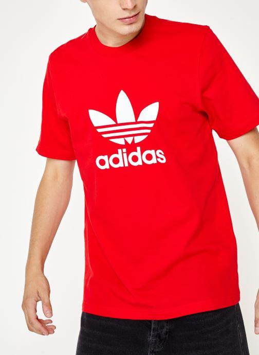 Vêtements adidas originals Trefoil T-Shirt Rouge vue détail/paire