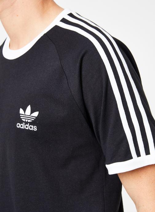 Vêtements adidas originals 3-Stripes Tee Noir vue face