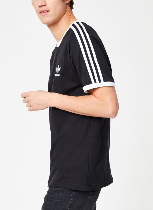 Vêtements adidas originals 3-Stripes Tee Noir vue droite