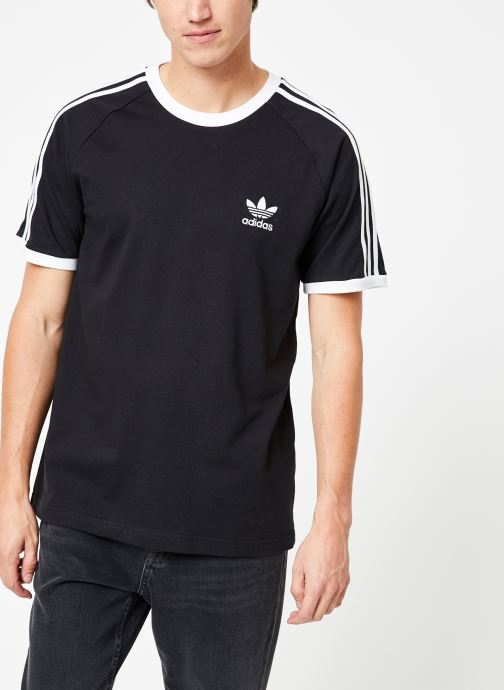 Kleding adidas originals 3-Stripes Tee Zwart detail
