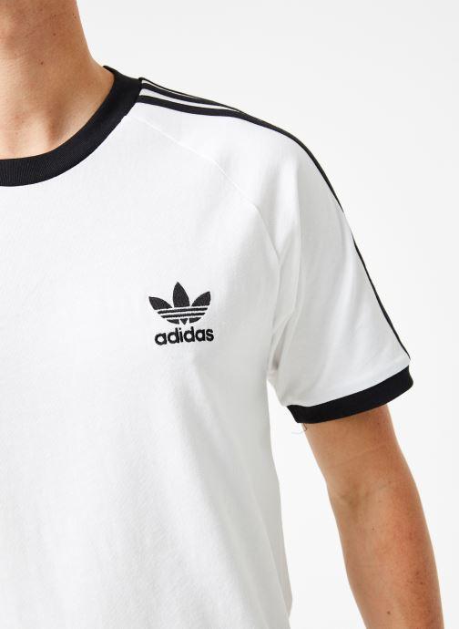 Vêtements adidas originals 3-Stripes Tee Blanc vue face