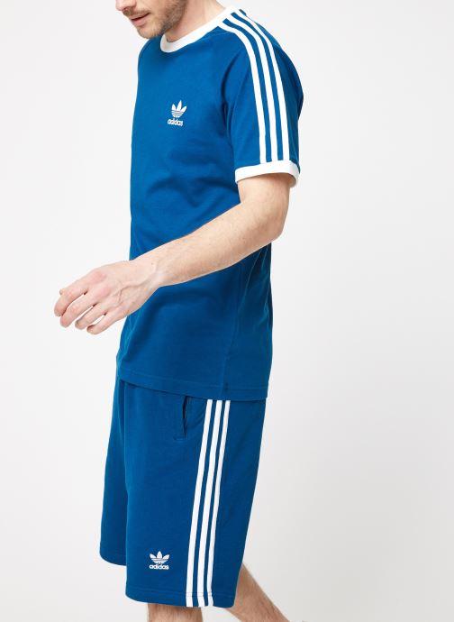 Vêtements adidas originals 3-Stripes Tee Bleu vue droite