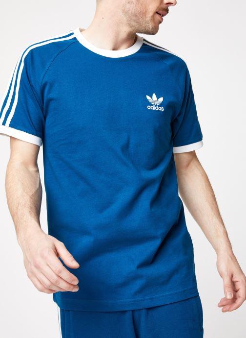 Vêtements adidas originals 3-Stripes Tee Bleu vue détail/paire