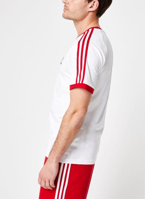 Vêtements adidas originals 3-Stripes Tee Blanc vue droite