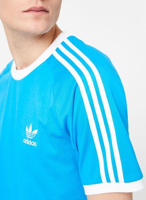 Vêtements adidas originals 3-Stripes Tee Bleu vue face