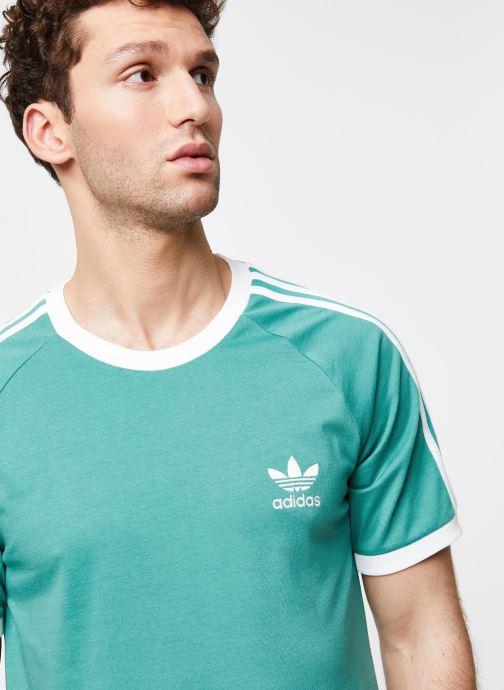 Vêtements adidas originals 3-Stripes Tee Vert vue face