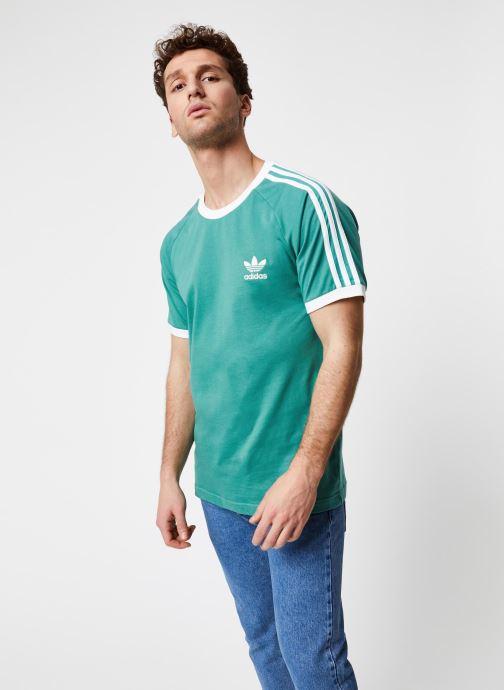 Vêtements adidas originals 3-Stripes Tee Vert vue droite