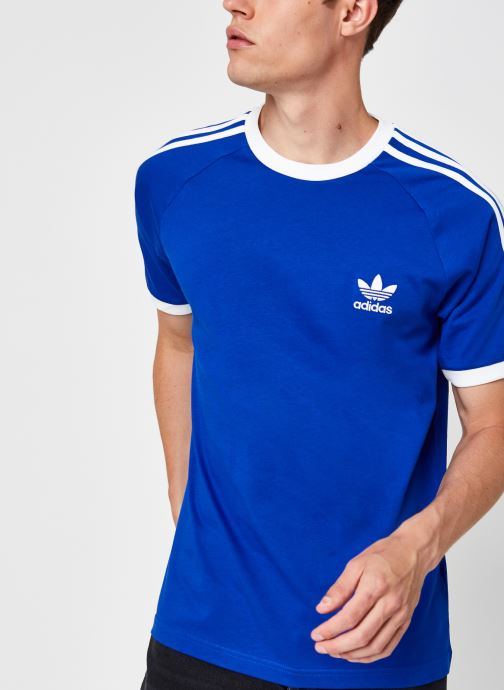 Kleding adidas originals 3-Stripes Tee Blauw detail
