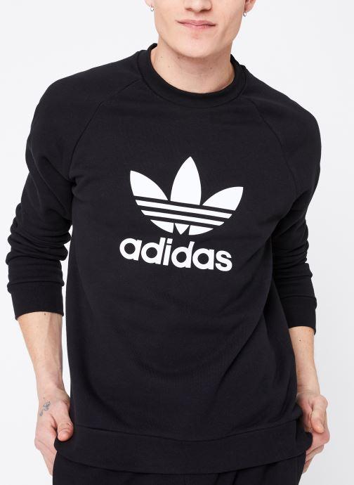 Vêtements adidas originals Trefoil Crew Noir vue détail/paire