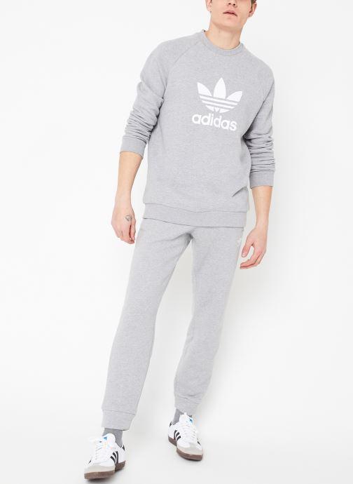 Vêtements adidas originals Trefoil Crew Gris vue bas / vue portée sac