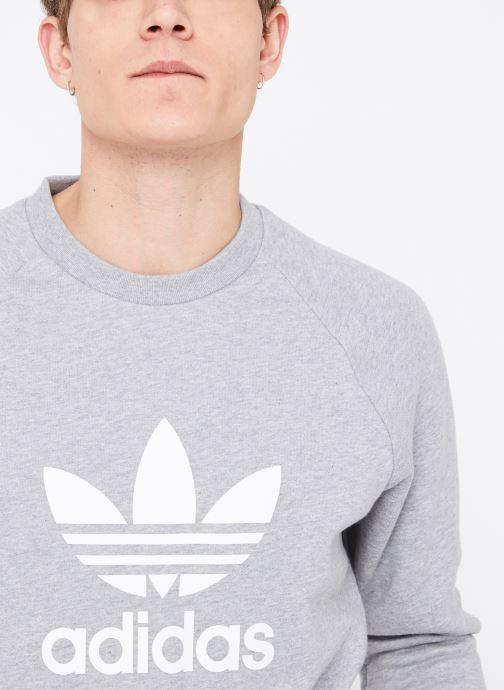 Vêtements adidas originals Trefoil Crew Gris vue face