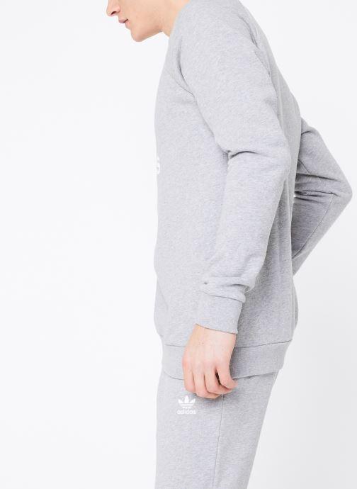 Vêtements adidas originals Trefoil Crew Gris vue droite