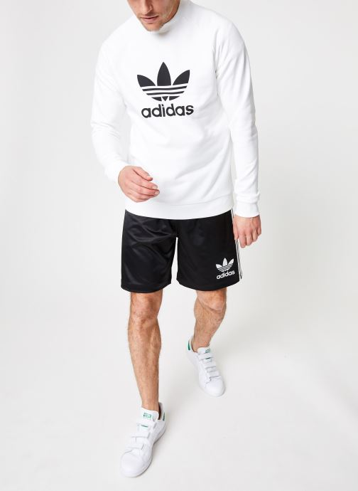 Vêtements adidas originals Trefoil Crew Blanc vue bas / vue portée sac