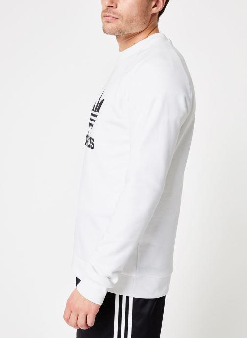 Vêtements adidas originals Trefoil Crew Blanc vue droite