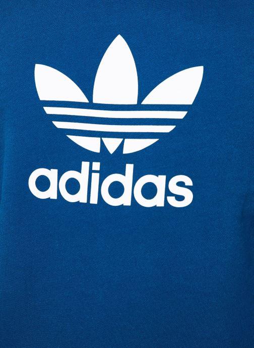 Vêtements adidas originals Trefoil Crew Bleu vue face