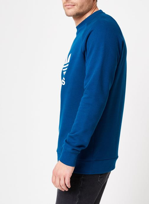 Vêtements adidas originals Trefoil Crew Bleu vue droite