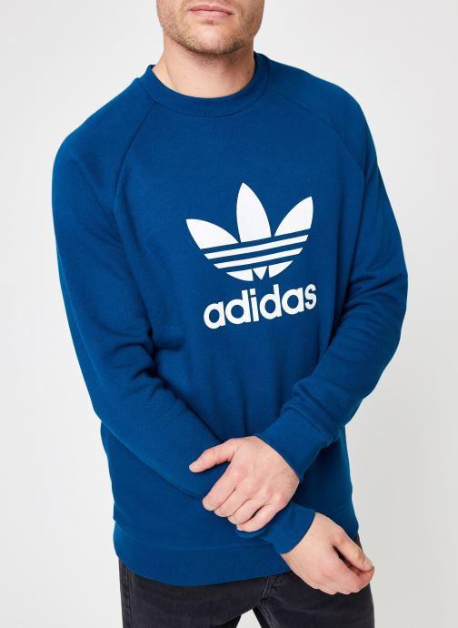 Vêtements adidas originals Trefoil Crew Bleu vue détail/paire