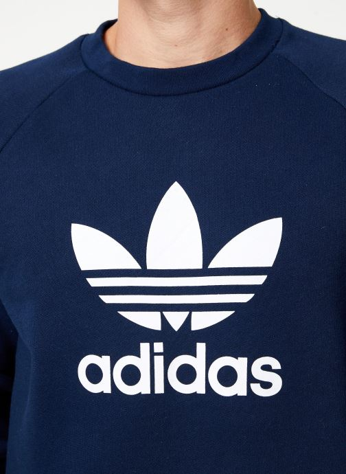 Vêtements adidas originals Trefoil Crew Bleu vue face