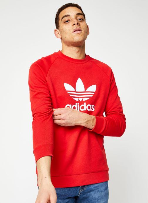 Vêtements adidas originals Trefoil Crew Rouge vue détail/paire