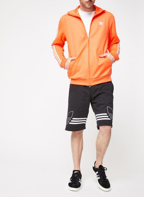 Vêtements adidas originals Beckenbauer Tt Orange vue bas / vue portée sac