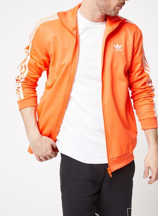 Vêtements adidas originals Beckenbauer Tt Orange vue détail/paire