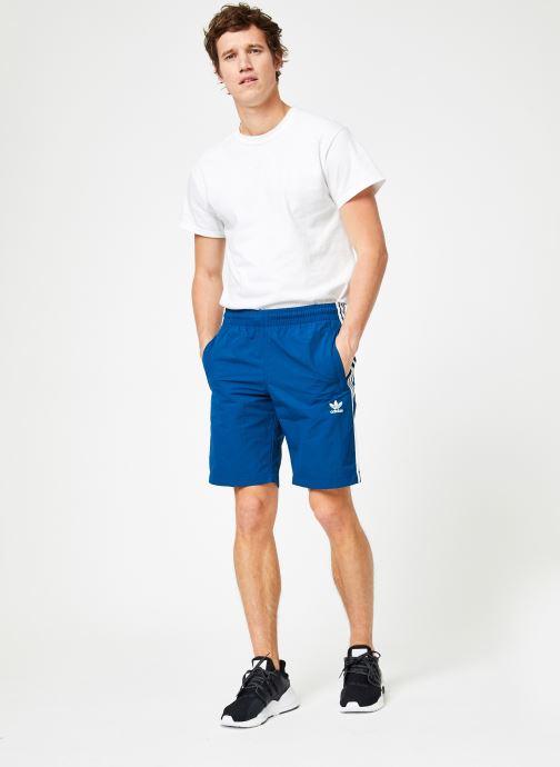Vêtements adidas originals 3-Stripes Swim Bleu vue bas / vue portée sac