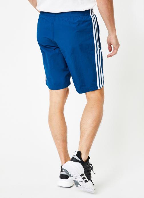 Vêtements adidas originals 3-Stripes Swim Bleu vue portées chaussures