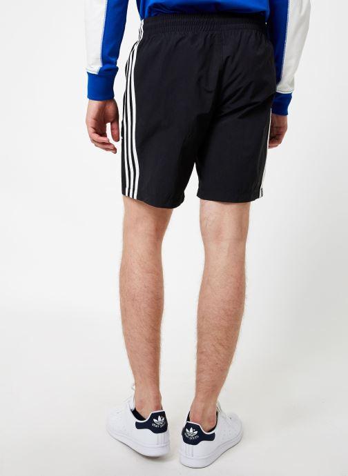 Vêtements adidas originals 3-Stripes Swim Noir vue portées chaussures