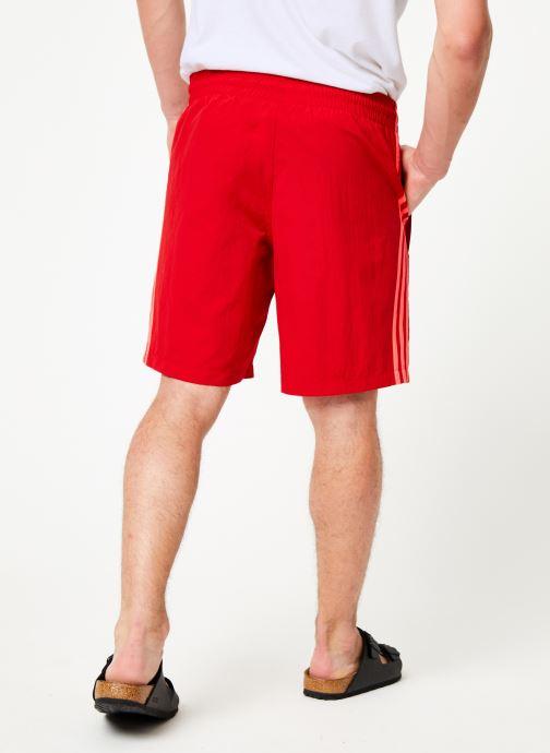 Vêtements adidas originals 3-Stripes Swim Rouge vue portées chaussures