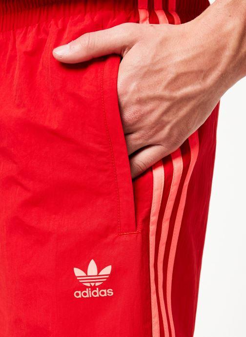 Vêtements adidas originals 3-Stripes Swim Rouge vue face