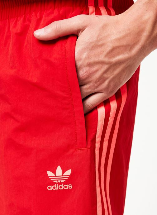 Vêtements adidas originals 3-Stripes Swim Rouge vue face