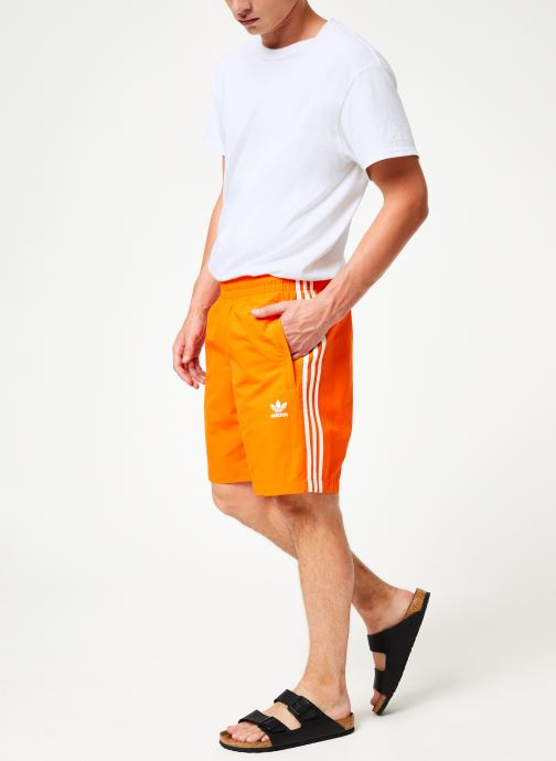 Vêtements adidas originals 3-Stripes Swim Orange vue bas / vue portée sac