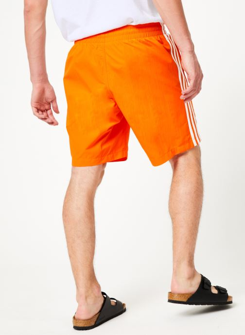 Vêtements adidas originals 3-Stripes Swim Orange vue portées chaussures
