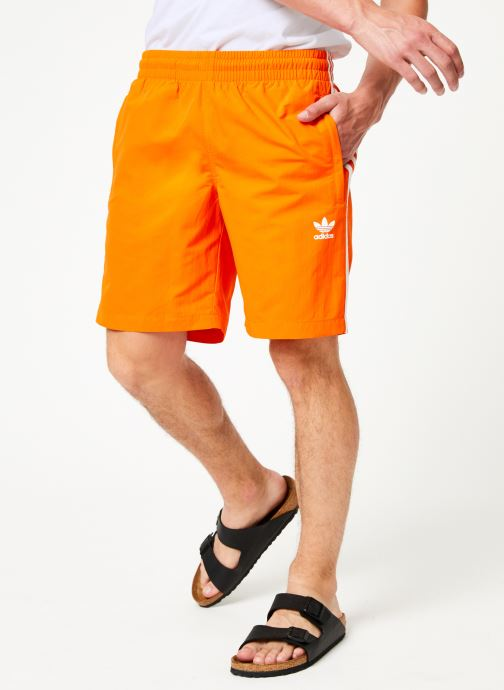 Vêtements adidas originals 3-Stripes Swim Orange vue détail/paire