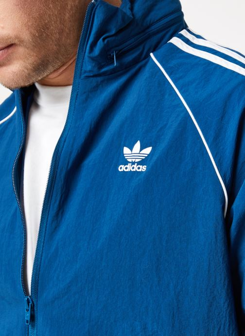 Vêtements adidas originals Sst Windbreaker Bleu vue face