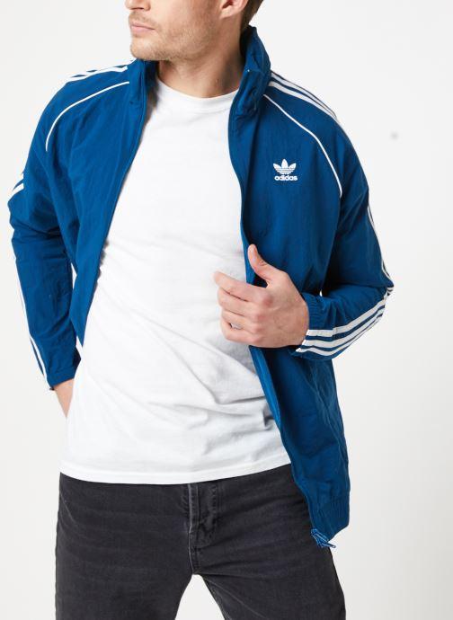 Kleding adidas originals Sst Windbreaker Blauw detail