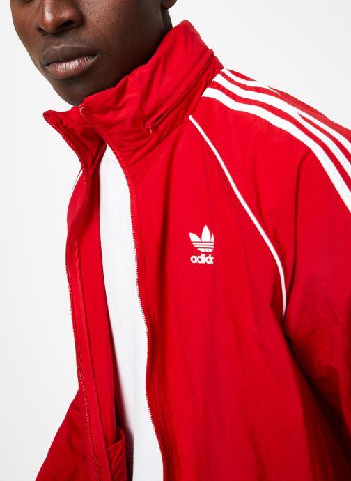 Vêtements adidas originals Sst Windbreaker Rouge vue face